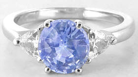 Light Blue Sapphire Engagement Ring in White Gold