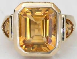 One of a Kind Citrine Rings