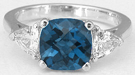 London Blue Topaz White Sapphire Ring