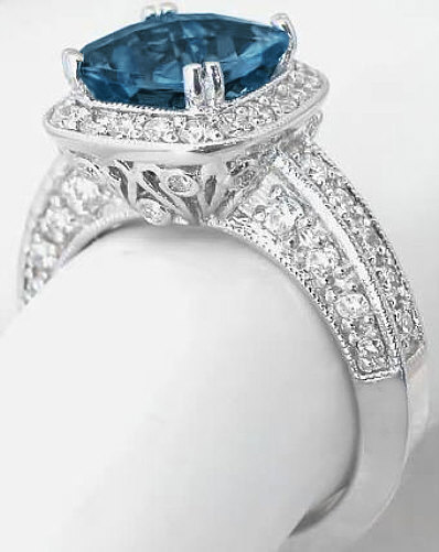 Antique London Blue Topaz Ring From Myjewelrysource Gr 6109