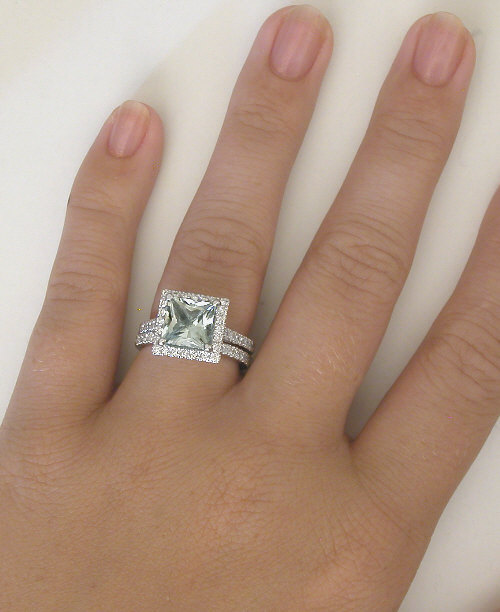 white wedding engagement gold diamonds ring with rose rings quartz