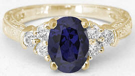 Iolite Engagement Rings