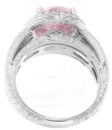one of a large light pink sapphire and