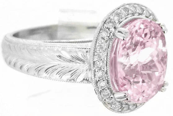One Of A Kind 7 Carat Unheataed Rare Light Pink Sapphire