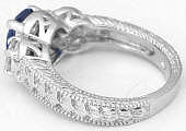 Engraved Sapphire Ring