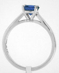 Round Sapphire Solitaire Rings in 14k gold