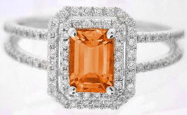 Engagement Rings with Orange Sapphire