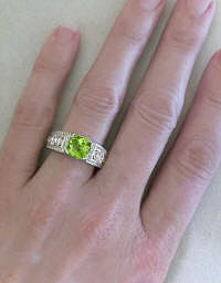 Vintage Diamond Band with Peridot