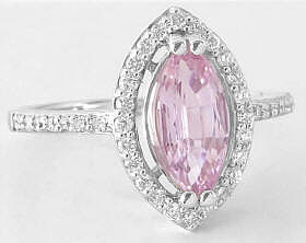 Marquise Pink Diamond Alternative Engagement Ring