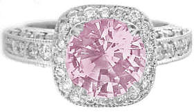 Pink Sapphire Ring for Sale