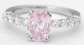 Light Pink Sapphire and Diamond Rings