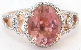 Rose Gold Pink Tourmaline Rings