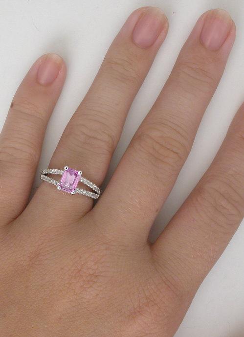 Modern Pink Sapphire Rings