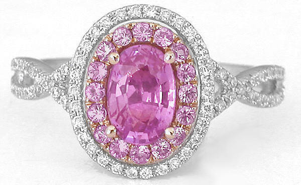 Pink Diamond Cocktail Ring