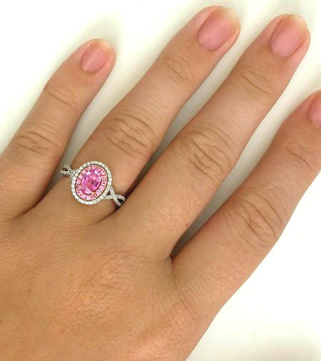 Light Pink Sapphire Diamond Ring
