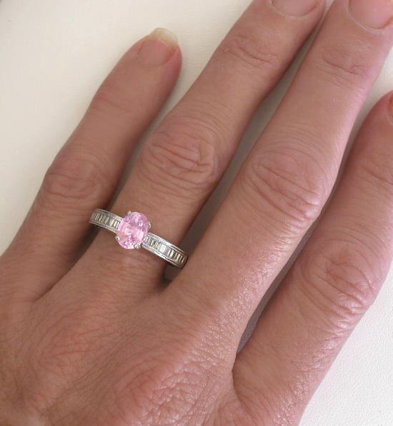Baby Pink Sapphire In An Oval Cut In A Beautiful Semi