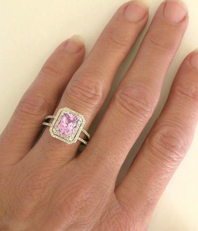 Light Pink Sapphire Rose Gold Ring