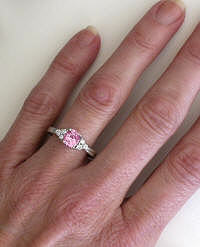 Pink Sapphire Ring in 14k