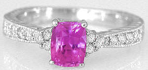 Hot Pink Sapphire Rings
