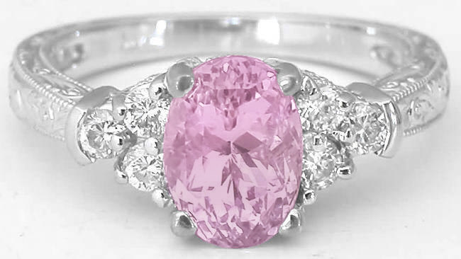 ring light gia shape carat pear diamond pink certified