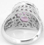 Custom 7.02 ctw Pink Sapphire and Diamond Ring in 14k white gold