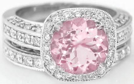 PINK DIAMOND ENGAGEMENT RING - Perhanda Fasa