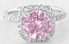 Unheated Round PinK Sapphire Ring