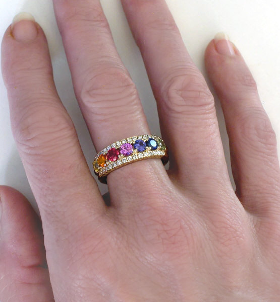 shop deals twofeathersny gold rings etsy pride lgbt these band wedding engagement rainbow on hot out ring check