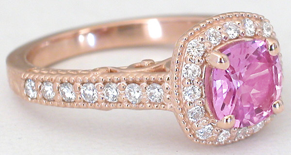 Pink Sapphire Ring in Rose Gold GR 5961