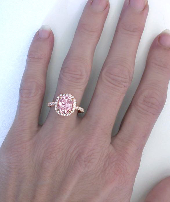 Light Pink Sapphire Engagement Rings
