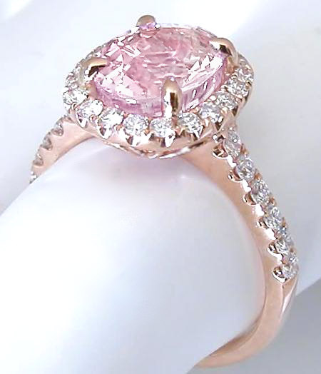 Light Pink Sapphire Diamond Engagement Ring GR 5992