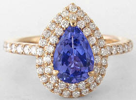 18k Rose Gold Tanzanite Engagement Rings