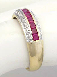 Ruby Anniversary Band in 14k