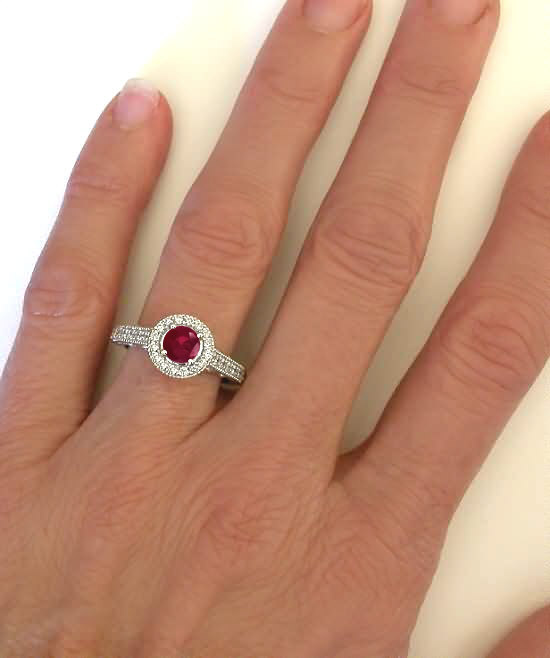 ruby wedding ring white gold ruby engagement ring in 14k with ruby gr 7179
