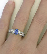 Ceylon Sapphire and Diamond Ring in 14k