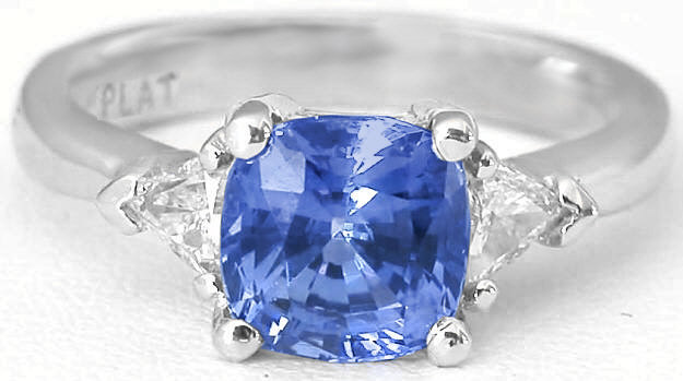ring sapphire created luxury blue for sterling genuine sliver men