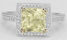 Ceylon Yellow Sapphire Engagement Rings in yellow and white gold