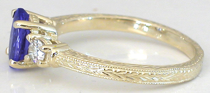 Carved Gold Wedding Bands 15 Fabulous Tanzanite engagement rings in