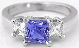 Three Stone Tanzanite Rings