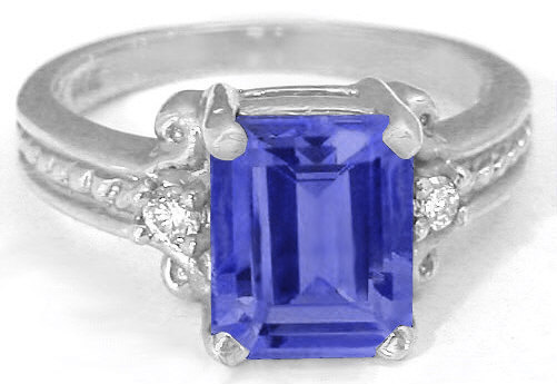 ring for wedding emerald cut tanzanite engagement rings gr 7097 7097