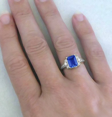 sterling size ring carat carats women image cut products silver blue jewelry love product sapphire rings engagement for emerald tanzanite