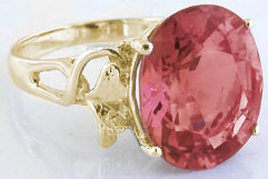 Large Oval Rose-Pink Tourmaline Rings