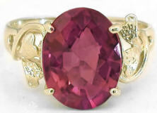 Large Oval Pink Tourmaline Rings