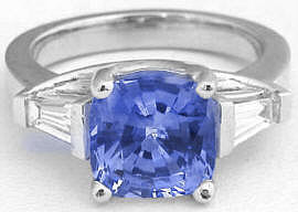 Natural Cushion Cut Sapphire Rings