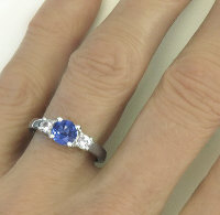 Natural Blue Sapphire and White Sapphire Rings