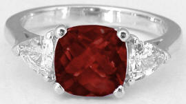 Garnet Rings in White Gold
