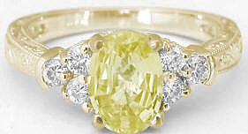 Yellow Gold Yellow Sapphire Rings
