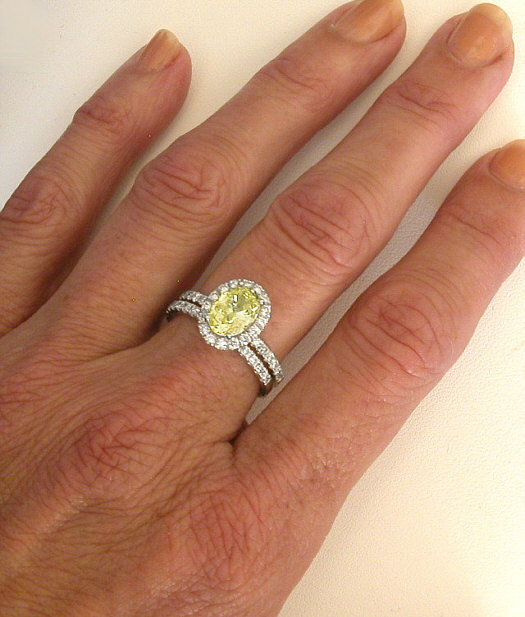 Engagement Rings In Which Hand: Diamond Halo Yellow Sapphire Rings MyJewelrySource (GR-5968