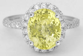 Oval Canary Yellow Sapphire Engagement Ring