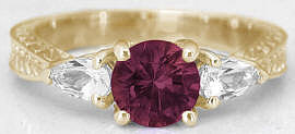 Rhodolite Garnet Ring in 14k Gold